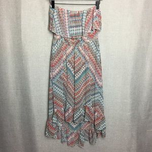 American Rag/ High Lo Strapless Dress Size M